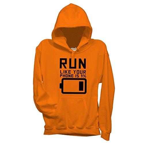 Sweatshirt Lauf Leere Batterie - LUSTIG by Mush Dress Your Style - Herren-XXL-Orange Batterie-jumper-box
