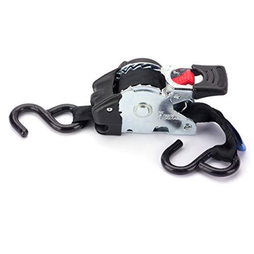 Marwotec Verbindungselemente 2 x Automatik Spanngurt/Automatischer Zurrgurt 3,0m x 50mm 750daN/1500 daN selbstaufrollend mit S-Haken