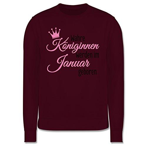 Geburtstag - Wahre Königinnen werden im Januar geboren - Herren Premium Pullover Burgundrot
