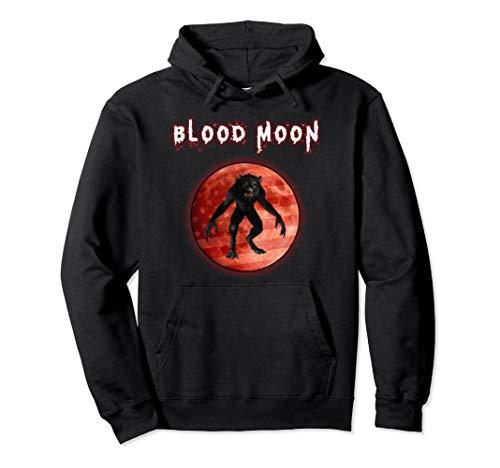Kostüm Werwolf Vollmond - Werwolf Happy Howloween Vollmond US Flagge Halloween Kostüm Pullover Hoodie