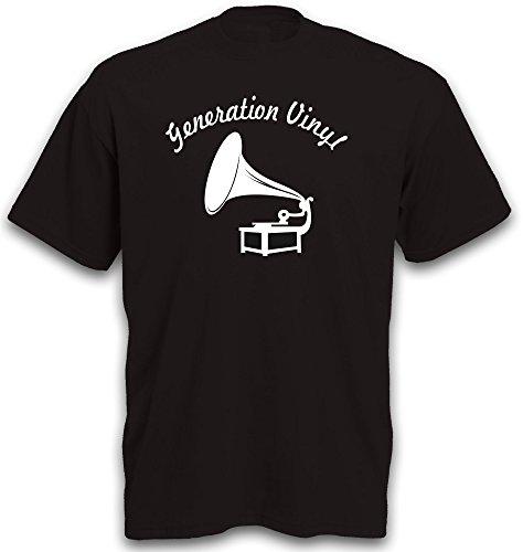 Signs & Fiction T-Shirt Schallplatte Vinyl Grammophon Single Turntable Schallplattenspieler Gr. XL