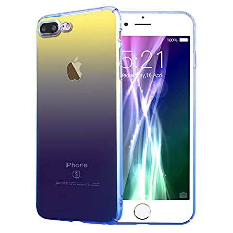 VemMore iPhone 7 Plus Gradient Ramp Colorful Case, Anti-Fingerprint Blu-Ray Ultra Thin Smooth Transparent Clear PC Hard Back Shell Protective Smartphone Case Gradual Change Color Protector Cover for Apple iPhone 7 Plus -