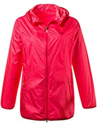 19bc2c9f408f59 Ulla Popken Damen große Größen | Regenjacke | Wasserdichte Outdoor-Jacke |  Kapuze, leicht