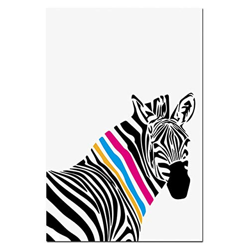 WSWWYModerno Blanco Negro Animal Zebra Canvas Poster