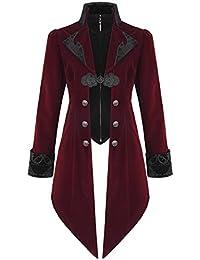 Dettagli su 12 COLORI UOMO steampunk Frac Gotico Vittoriano Giacca cappotto con gilet mostra il titolo originale