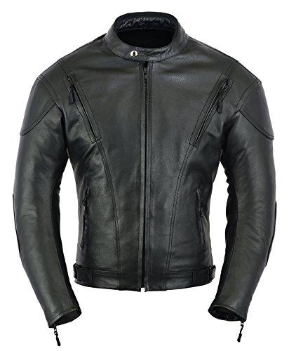 Chaqueta de protección para Moto de Moto de Cuero de Impacto...