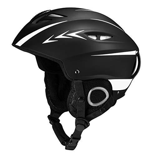 OMORC Skihelm, Snowboardhelm, Skibrille kompatibel Fahrradhelm, Verstellbarer Kopfumfang mit...