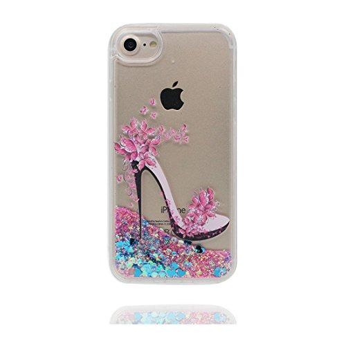 "iPhone 6 Coque, iPhone 6s étui Cover 4.7"", [Bling Glitter Fluide Liquide Sparkles Sables] iPhone 6 Case Shell (4.7""), anti- chocs -(Bling Heart) et stylet # 2"