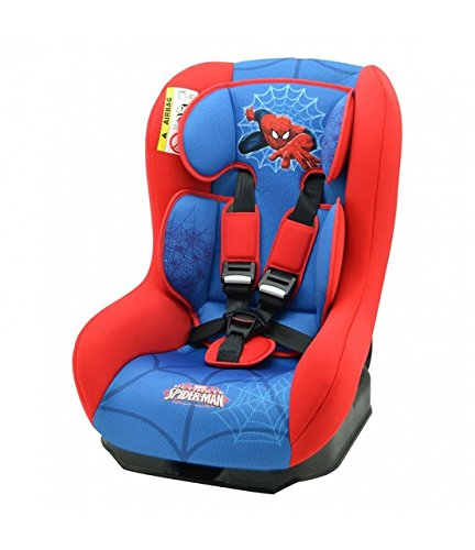 Nania Driver Group 0+/1 Infant High Booster Car Seat, Disney Spiderman nania 5-point harness with double shoulder adjustment Installing the car seat with the 3-point seat belt Harness sleeves and quick release buckle 1
