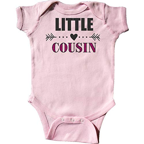 Little Cousin with Heart Arrow Infant Creeper Rosa Infant Bodysuit