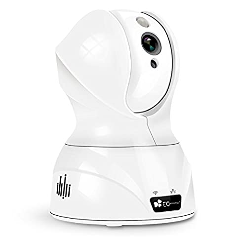 720P HD Wireless Wlan/Wifi IP Kamera von EC Technology Schwenkbare Indoor Baby Monitor Heim Home Security Überwachungskamera mit Bewegungserkennung, Stereo 2 Wege Audio zum Gegensprechen, PIR Nachtsichtmodus, Alarm Informationen für MacBook und Windows PC, iOS/Android - in