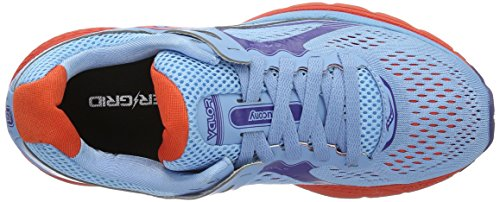 Saucony Valor, Scarpe da Corsa Donna Multicolore (Azul Claro/naranja/)