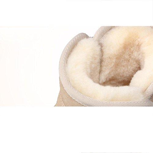 Stivali da neve a tubo corto da donna Antiscivolo caldo e traspirante Scarpe piatte all'aperto , 40 , blue SANDCOLOR-36