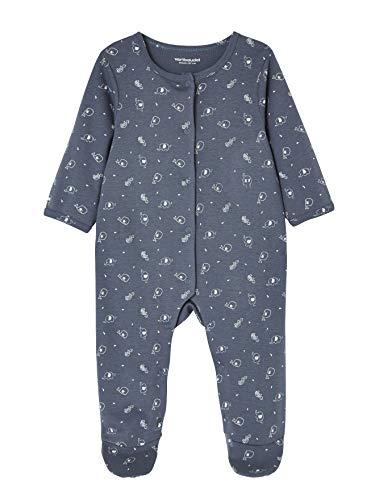 VERTBAUDET Lot de 2 pyjamas bébé en coton imprimé pressionnés devant Bleu  jean 1M - 54CM 5783b70cb3d