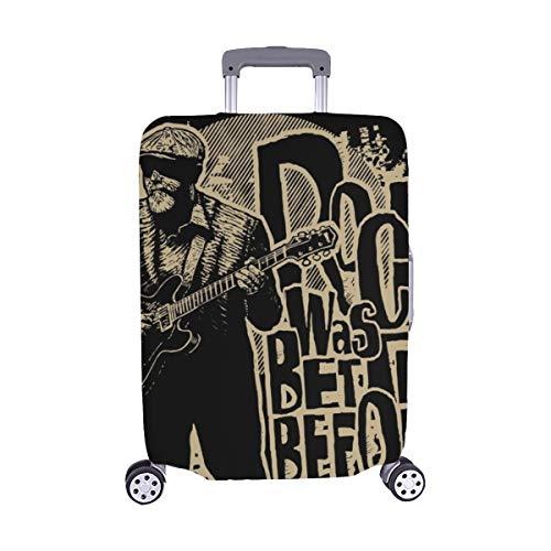Gitarristen Nur T-shirt ((Nur abdecken) Design Tshirt Rock vor dem Alter Muster Staubschutz Trolley Protector case Reisegepäck Beschützer Koffer Cover 28.5 X 20.5 Zoll)