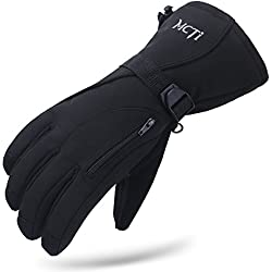 MCTi Guantes Esquí Impermeable Guantes Nieve Snowboard Ciclismo Invierno Térmica Thinsulate Hombre Mujer