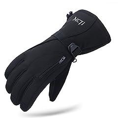 Idea Regalo - MCTi Guanti Sci Invernali Snowboard Neve Ciclismo Arrampicata Antivento Impermeabile Termico Thinsulate Uomo Nero