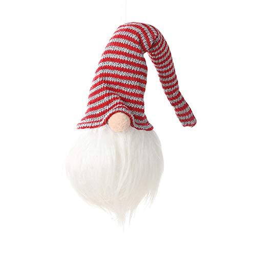 Myspace 2019Dekoration für Christmas Weihnachten neue Dekoration mit Lichtern Gesichtslose Puppe Anhänger Glühen Wald Alter Mann Dekoration Urlaub Glänzend Verkleiden sich -