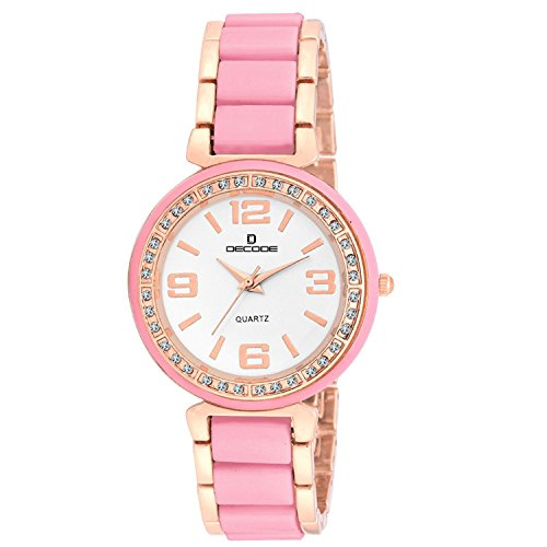 Decode Astonish Pink Rose Gold Watch for Women/Girls