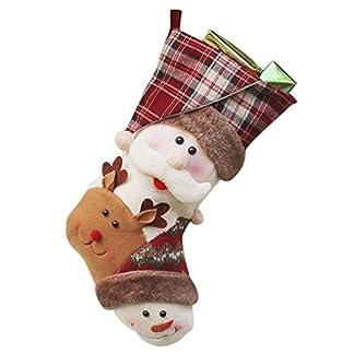 YiLianDa Decoraciones De Caramelo Calcetines Regalos De La Decoración Del Bolso Calcetines De Navidad De Santa Claus Muñeco De Nieve