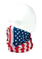 FLAG OF USA / STARS & STRIPES - RUFFNEK® Multifunctional Headwear / Neckwarmer for men, women & children from RUFFNEK®