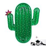 GYFY Cactus Floating Row Super Galleggiante Letto Adulto Nuoto Acqua Nuoto Anello reclinabile Letto Galleggiante (Inviare Pompa dell'Aria Auto)