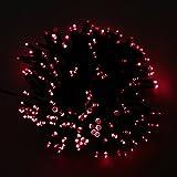 Lixada 17m 100 LED Red Solar Power String Fairy Light Outdoor Garden Lawn Xmas Party