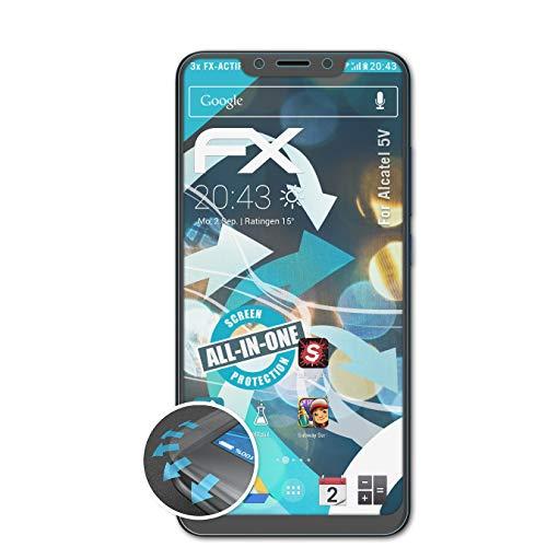 atFolix Schutzfolie passend für Alcatel 5V Folie, ultraklare & Flexible FX Bildschirmschutzfolie (3X)