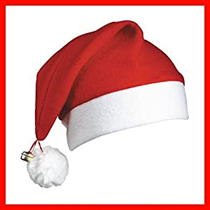Gifts 4 All Occasions Limited SHATCHI-126 - Gorros de Papá Noel (12 unidades), diseño de campana de Navidad, color rojo y blanco