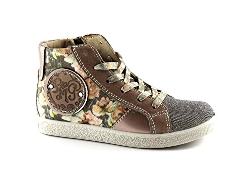 PRIMIGI 65751 27/30 beige fiori scarpe bambina sneaker mid zip laterale Beige