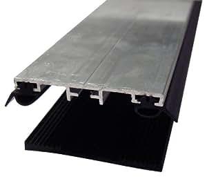 Verlegeset Mitte - Verlegeprofil Breite: 60mm, Länge: 1000mm (1lfm), inkl EPDM Dichtungen für Stegplatten u Glas