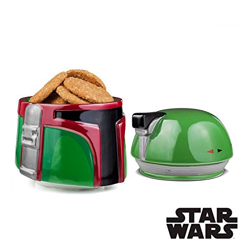 Star Wars Boba Fett de cerámica Tarro para Galletas, Color Verde