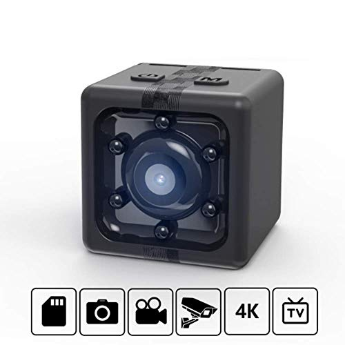 YWT Mini Wireless versteckte Spionkamera, Full HD 4K tragbare Mini HD Babysitter Kamera mit Nachtsicht, Familie, Auto, Drohne, Büro und Außeneinsatz (Babysitter Kamera)