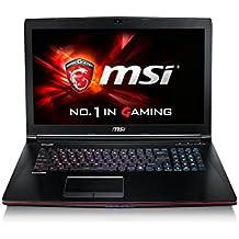 "MSI GE72 2QF(Apache Pro)-225XES - Portátil de 17.3"" (Intel Core i7-5700HQ, 16 GB de RAM, disco duro de 1 TB, NVIDIA GeForce GTX 970M de 3 GB, FreeDOS) - Teclado QWERTY Español"