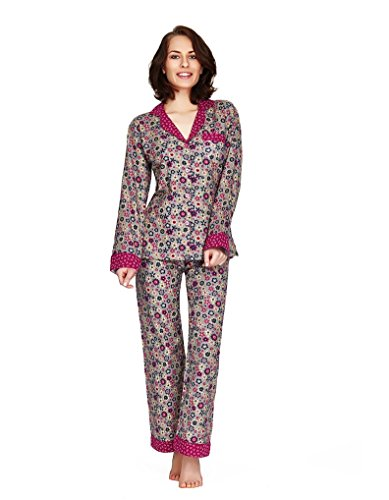 Mio Lounge Dancing Daisy Floral Print Cotton Pyjama Set MLDD1501PJ Medium (Blumen-print Pyjama Set)