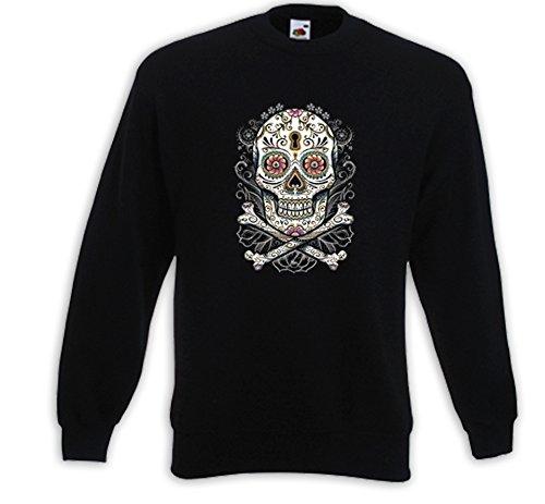 Mexican Pull Floral Skull Vintage Rockabilly Totenkopf Mexico Bike Tattoo Noir
