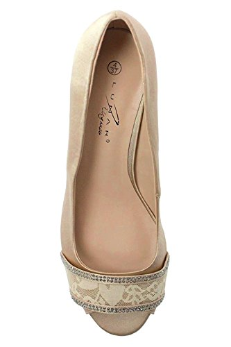 Fantasia Boutique, Scarpe col tacco donna Champagne (SHOE ONLY)