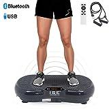 ISE Fitness Vibrationsplatte mit Bluetooth-Lautsprecher,USB,Vibro Shaper 99 Geschwindigkeitsstufen 5 Programme,Schwarz