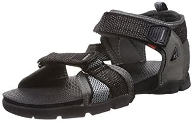 Sparx Men's Black and Grey Athletic and Outdoor Sandals - 10 UK/India (44.67 EU) (SS-105)