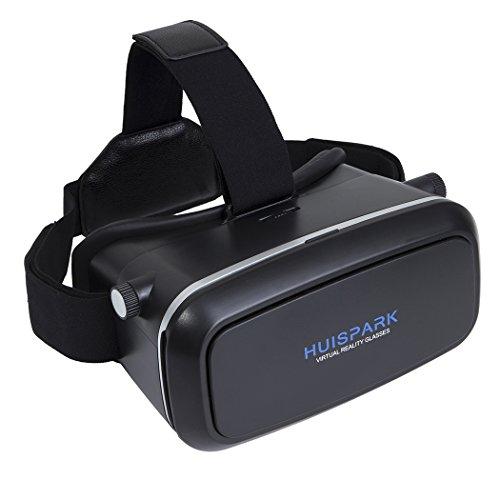 "VR brille VR Headset Virtuelle Realität Brille, Huispark 3d brille VR Kopfhörer Virtual Reality glasses Karton Video Movie Games virtuelle Realität Brille für iPhone 6s / 6 Plus / 6 / 5S / 5C vr headset für Galaxy S5 / S6 / Note 4 / Virtuelle Realität Brillen für 4,7 ""-6,0"" Zoll Handys (VR-202)"