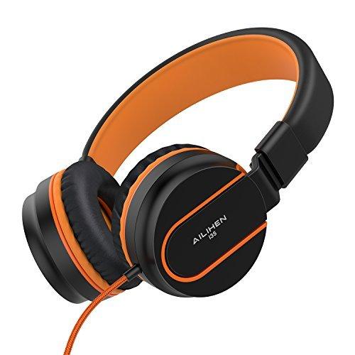 ailihen I35faltbar Kopfhörer mit Mikrofon und Verstellbarer Kopfbügel 3,5mm Kabel Headsets für Handys Smartphones iPhone Laptop MP3/4 Iphone Mobile Headset