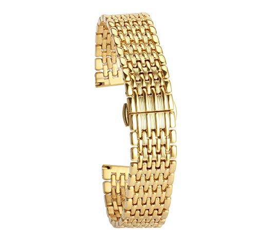 Gold Uhrenarmband für Mens 22mm Luxusuhrenarmband Armband Ersatz