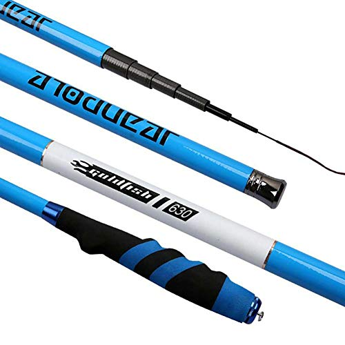heresell Canne à pêche Ultra-légère et Ultra-légère Canne à pêche EVA Grip imperméable Anti-dérapant Ultra-Dur Ultra-léger Pole Rod 3.6-6.3M Carbone Rod
