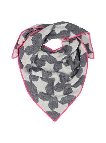 Cashmere Dreams Dreieckstuch mit Kaschmir - Hochwertiger Schal mit Sternen für Baby-s Jungen und Mädchen - XXL Hals-Tuch und Damen - Strick-Waren für Sommer und Winter Zwillingsherz - d.grau