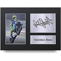 Valentino Rossi Los Regalos Firmaron A4 la Dedicatoria Impresa Superbikes MotoGP La Foto de Impresión Imagina la Demostración