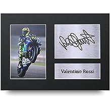Valentino Rossi firmado A4impreso Superbikes impresión fotográfica foto pantalla de presentación–gran Idea de regalo