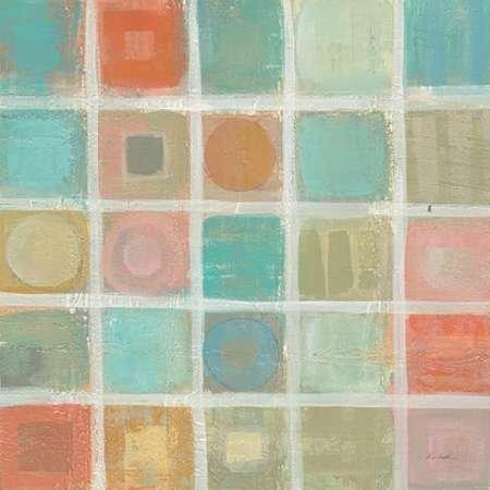 Feelingathome-fine-art-print-Sea-Glass-Mosaic-Tile-II-cm54x54-poster-for-frame