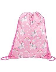 Sass & Belle Rainbow Unicorn Drawstring Bag