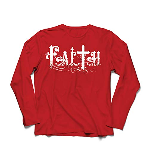 lepni.me Herren T Shirts Christlicher Glaube Jesus Christus Cross Religiöse Geschenkideen (Small Rot Mehrfarben) (Jesus Christus Happy Birthday)