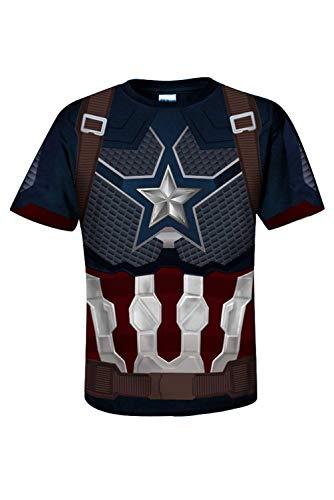 Herren Damen Anime Cosplay Kostüm Avengers: Endgame Infinity War - Part II Captain America Kurzarm T-Shirt - Captain America Kostüm T-shirt